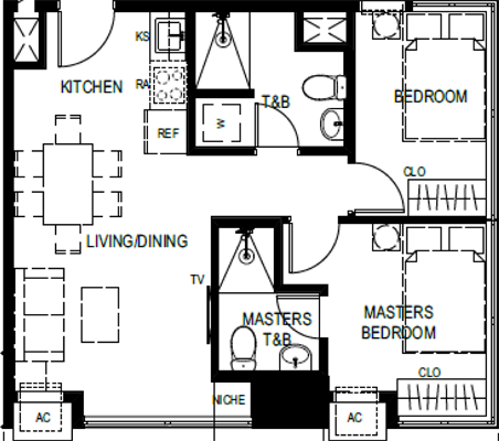 Empire East The Paddington Place Shaw Boulevard Mandaluyong Condo Tower 2 2-bedroom unit