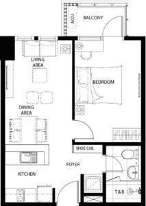 Federal Land Grand Midori Ortigas Condo 1-bedroom unit C
