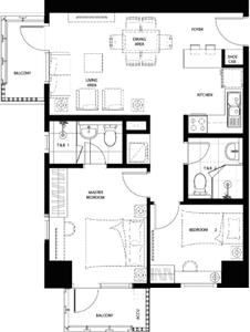 Federal Land Grand Midori Ortigas Condo 2-bedroom unit N