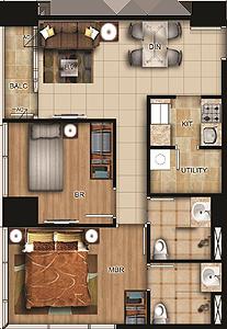 Federal Land Madison Park West BGC Taguig Condo 2-bedroom unit