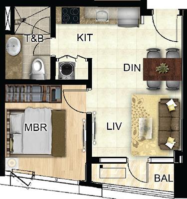 Federal Land One Wilson Square Greenhills San Juan Condo 1-bedroom unit