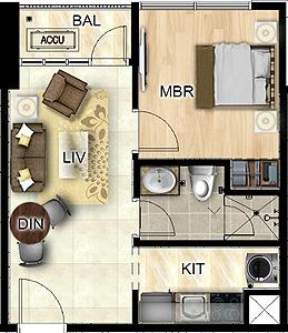 Federal Land Park Avenue BGC Taguig Condo 1-bedroom unit