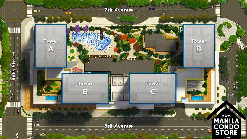 Federal Land The Seasons Residences BGC Taguig Condo Site Development Plan