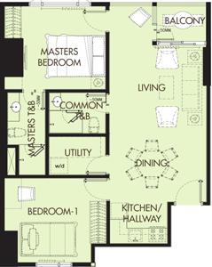 Grand Taipan Verano Greenhills San Juan Condo 2-bedroom unit