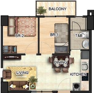 Horizon Land Peninsula Garden Midtown Homes Paco Manila Condo Mango 2-bedroom with balcony
