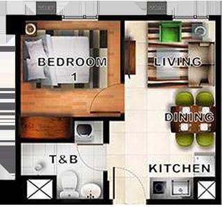 Horizon Land Siena Towers Marikina Condo 1-bedroom unit