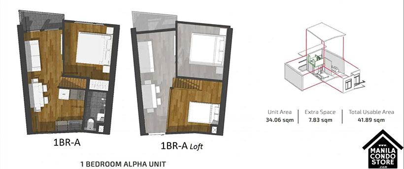 PH1 World Developers My Enso Lofts Timog Avenue Quezon City Condo 1-bedroom unit  A