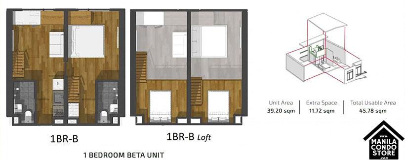 PH1 World Developers My Enso Lofts Timog Avenue Quezon City Condo 1-bedroom unit B