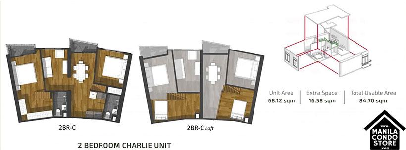 PH1 World Developers My Enso Lofts Timog Avenue Quezon City Condo 2-bedroom unit C