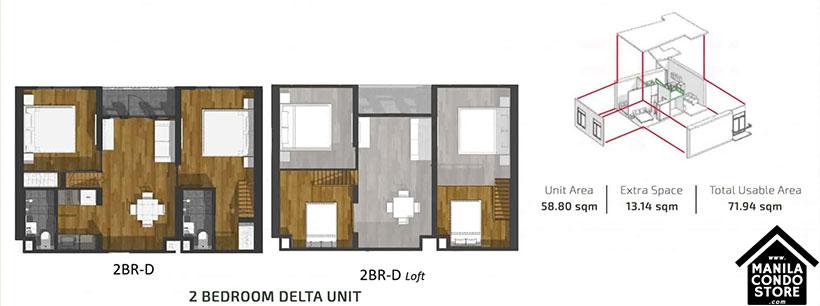 PH1 World Developers My Enso Lofts Timog Avenue Quezon City Condo 2-bedroom unit D