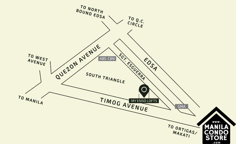 PH1 World Developers My Enso Lofts Timog Avenue Quezon City Condo Location Map