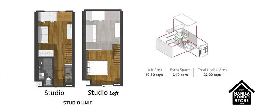 PH1 World Developers My Enso Lofts Timog Avenue Quezon City Condo Studio unit