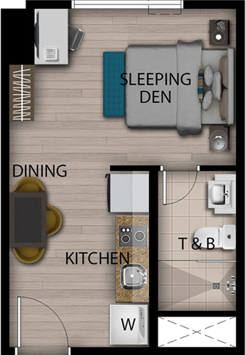 Megaworld SAN ANTONIO Residence Makati Condo Studio unit