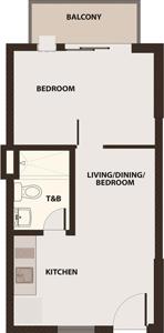 Robinsons Communities Acacia Escalades Manggahan Pasig Condo Tower A 1-bedroom unit