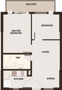 Robinsons Communities Acacia Escalades Manggahan Pasig Condo Tower A 2-bedroom unit