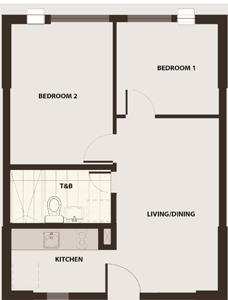 Robinsons Communities Acacia Escalades Manggahan Pasig Condo Tower B 2-bedroom unit