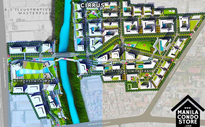 Robinsons Communities Cirrus Bridgetowne Rosario Pasig Condo Location Map