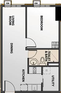 Robinsons Communities The Chimes Greenhills San Juan Condo 1-bedroom unit