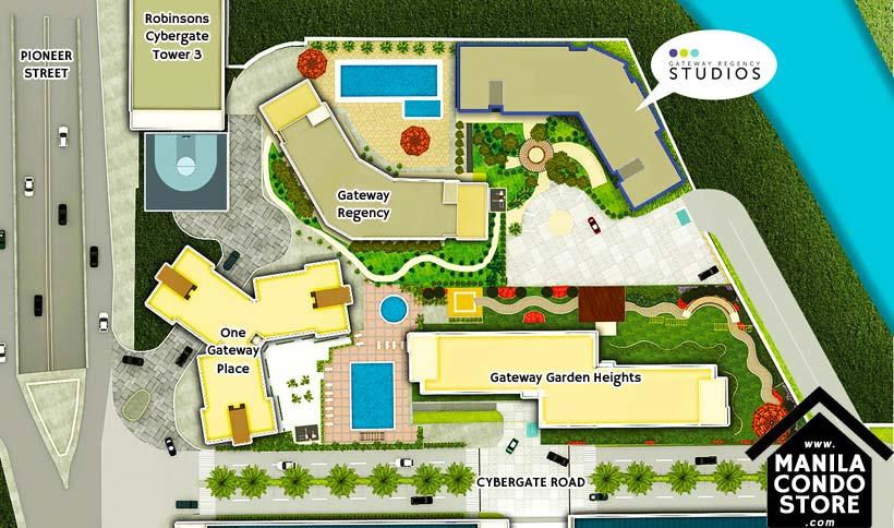 Robinsons Land Gateway Regency Studios Pioneer Mandaluyong Condo Site Development Plan