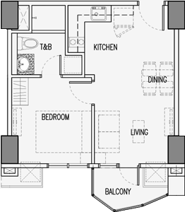 Robinsons Residences Radiance Manila Bay Pasay Condo 1-bedroom unit