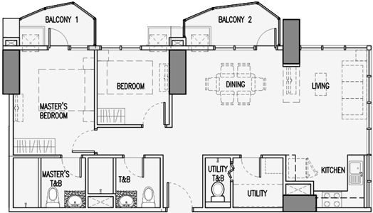 Robinsons Residences Radiance Manila Bay Pasay Condo 2-bedroom unit