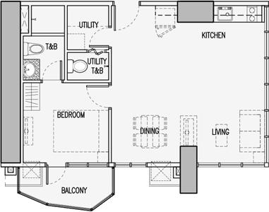 Robinsons Residences Radiance Manila Bay Pasay Condo Executive 1-bedroom unit