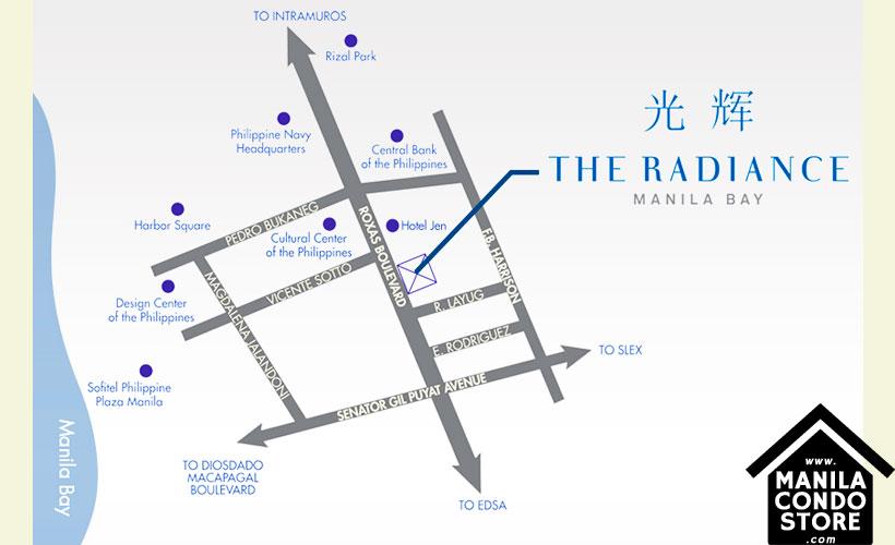 Robinsons Residences Radiance Manila Bay Pasay Condo Location Map