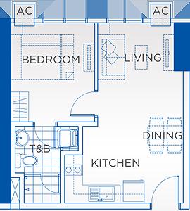 Robinsons Residences Trion Towers BGC Taguig Condo 1-bedroom unit