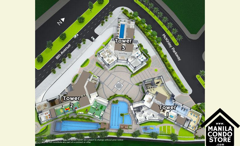 Robinsons Residences Trion Towers BGC Taguig Condo Site Development Plan