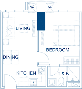 Robinsons Residences The Sapphire Bloc Ortigas Pasig Condo 1-bedroom unit