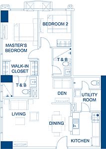 Robinsons Residences The Sapphire Bloc Ortigas Pasig Condo Executive 2-bedroom unit