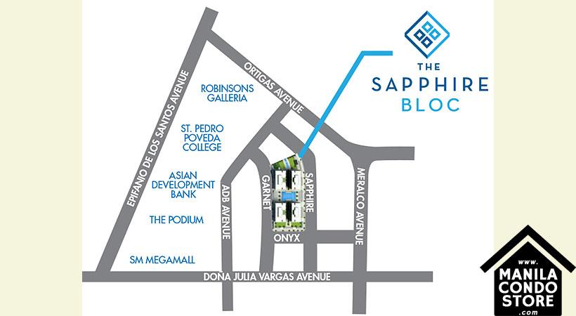 Robinsons Residences The Sapphire Bloc Ortigas Pasig Condo Location Map