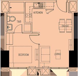 Robinsons Magnolia Residences New Manila Quezon City Condo 1-bedroom unit