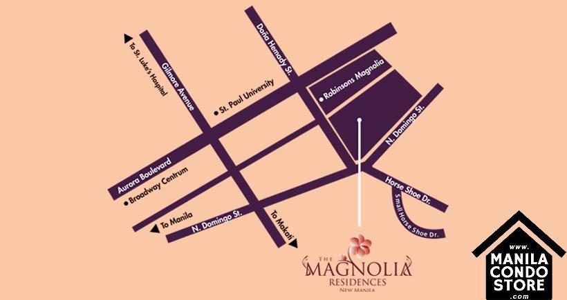 Robinsons Magnolia Residences New Manila Quezon City Condo Location Map