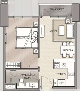 Robinsons The Velaris Residences Bridgetowne Rosario Pasig Condo 1-bedroom Deluxe