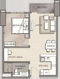 Robinsons The Velaris Residences Bridgetowne Rosario Pasig Condo 1-bedroom Premium