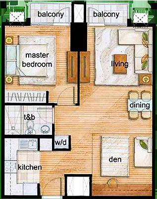 Rockwell Land The Grove C5 Ortigas Pasig Condo 1-bedroom unit