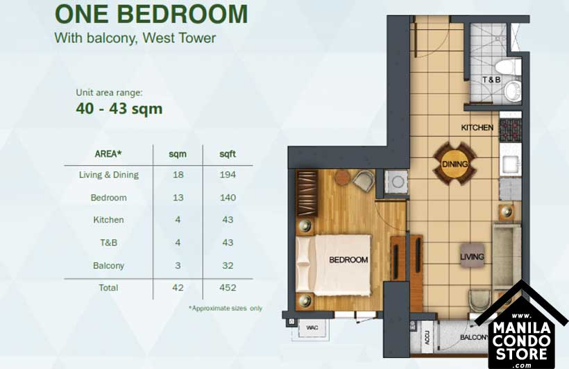 Rockwell Primaries The VANTAGE Kapitolyo Pasig Condo West Tower 1-bedroom unit