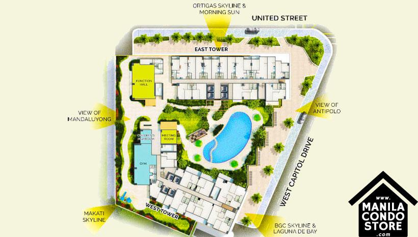 Rockwell Primaries The VANTAGE Kapitolyo Pasig Condo Site Development Plan