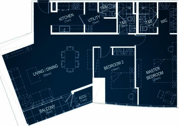 Rockwell PROSCENIUM Residences Makati Condo 2-bedroom unit