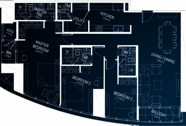 Rockwell PROSCENIUM Residences Makati Condo 3-bedroom unit