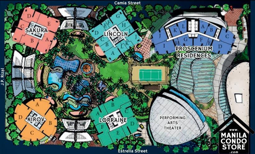Rockwell PROSCENIUM Residences Makati Condo Site Development Plan