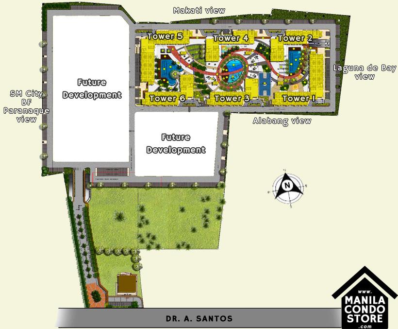 SMDC Bloom Residences Sucat Paranaque Condo Site Development Plan