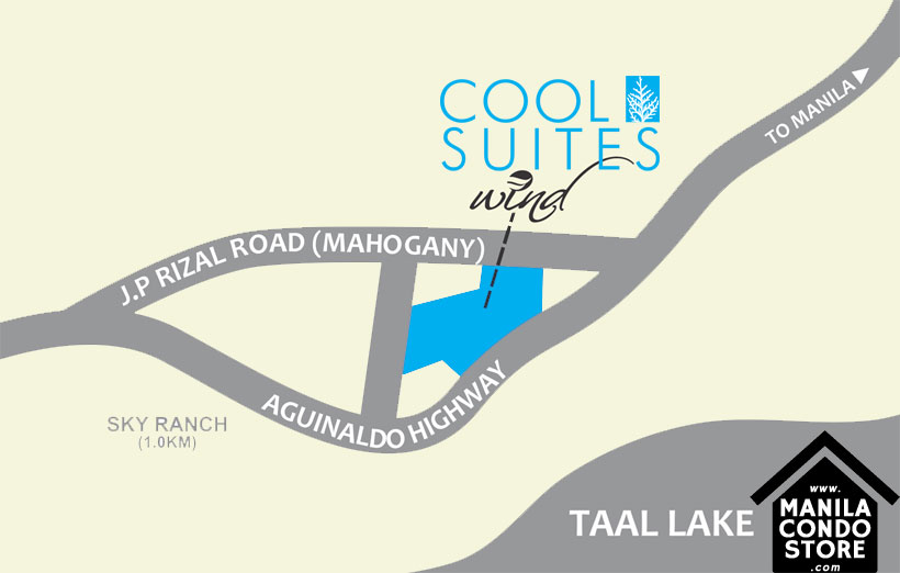 SMDC COOL SUITES Taal Tagaytay City Condo Location Map