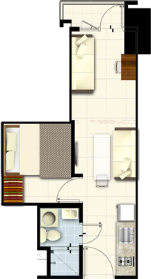 SMDC Fame Residences EDSA Shaw Mandaluyong Condo Family suite B with balcony
