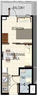 SMDC Gem Residences C5 Road Pasig City Condo 1-bedroom unit with balcony