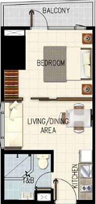 SMDC Gem Residences C5 Road Pasig City Condo 1-bedroom unit