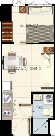 SMDC GLAM Residences EDSA South Triangle Quezon City Condo 1-bedroom unit