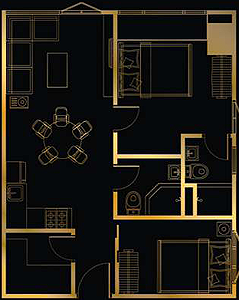 SMDC Gold Residences Sucat Paranaque Airport Condo 2-bedroom unit