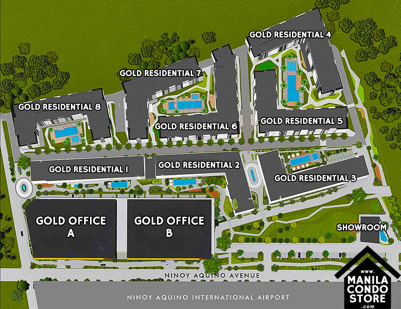SMDC Gold Residences Sucat Paranaque Airport Condo Site Development Plan